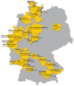 Verteilgebietskarte  Einkaufaktuell